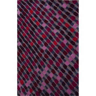 National Geographic Hand-Tufted Geometric Pattern Atmospere/Copen blue Wool (2x3) Area Rug