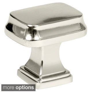 Amerock Revitalize 1.25-Inch Polished Nickel Rectangle Cabinet Knob (Pack of 5)