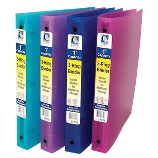 C-Line Products 3-Ring Poly Binder, 1 Inch Capacity (Color May Vary) (Set of 6 Binders)