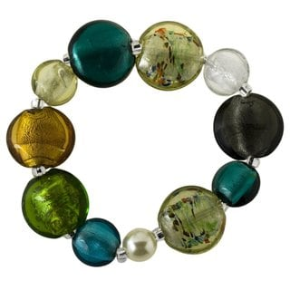 Women's Multicolor Glass Bead Stretch Bracelet