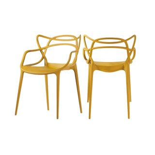 Clay Alder Home Sargent Contemporary Stackable Plastic Loop Dining Arm Chair (Set of 2)