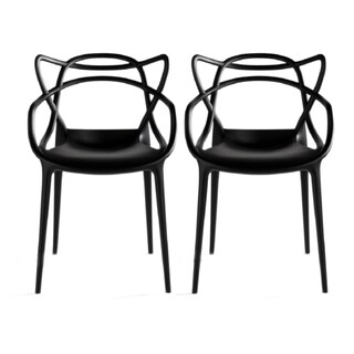 Clay Alder Home Sargent Contemporary Stackable Plastic Loop Dining Arm Chair (Set of 2) (3 options available)