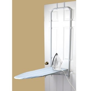Sunbeam Blue Stripes Over-the-Door Ironing Board