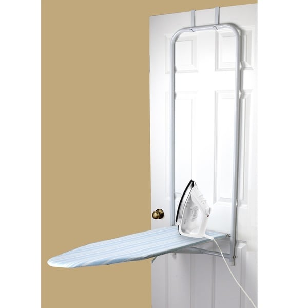 Shop Sunbeam Blue Stripes Over The Door Ironing Board Free
