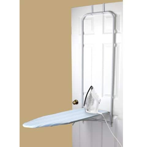 Sunbeam Blue Stripes Over-the-Door Ironing Board
