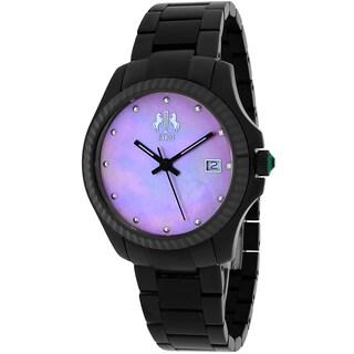 Jivago Women's JV3211P Jolie Round Black Stainless Steel Bracelet Watch