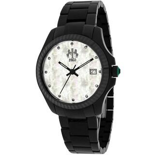 Jivago Women's JV3211W Jolie Round Black Stainless Steel Bracelet Watch