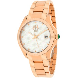 Jivago Women's JV3213W Jolie Round Rose Gold-tone Stainless Steel Bracelet Watch