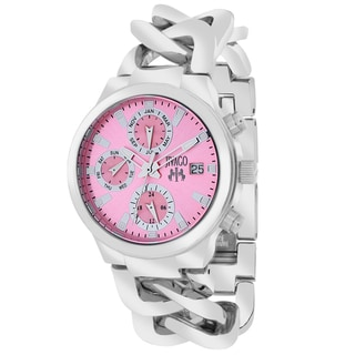Jivago Women's JV1245 Lev Mini Round Silvertone Stainless Steel Bracelet Watch