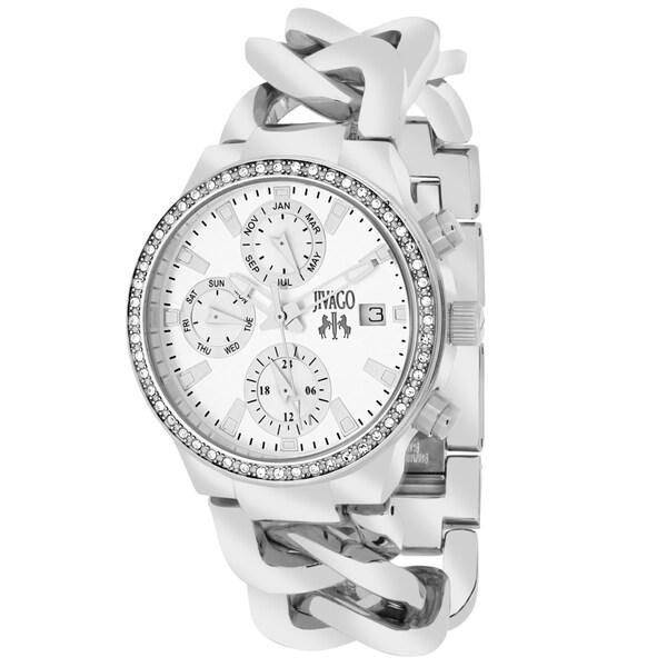 Jivago Women's JV1246 Lev Mini Round Silvertone Stainless Steel Bracelet Watch