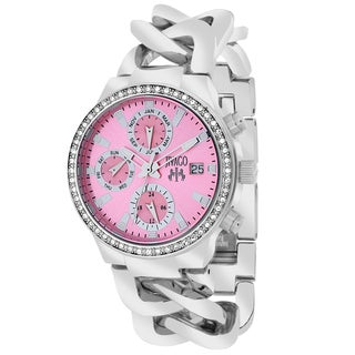 Jivago Women's JV1248 Lev Mini Round Silvertone Stainless Steel Bracelet Watch