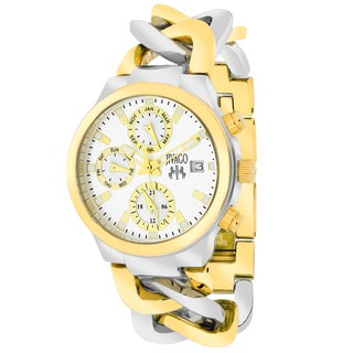 Jivago Women's JV1241 Lev Mini Round Two-tone Stainless Steel Bracelet Watch