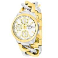 Jivago Women's JV1241 Lev Mini Round Two-tone Stainless Steel Bracelet Watch