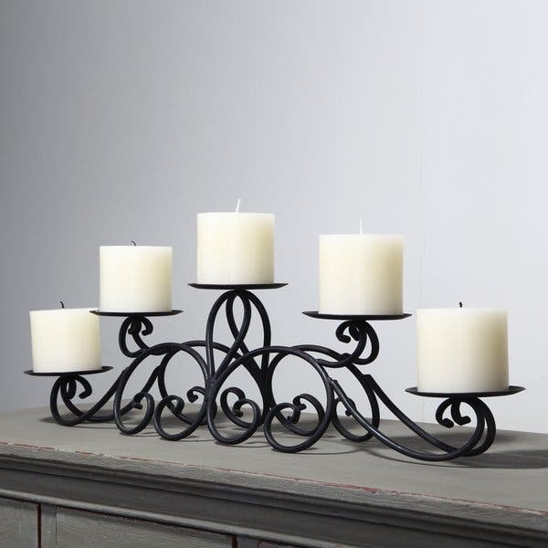 Adeco 5 Pillar Iron Tabletop Candle Holder Overstock 10336514