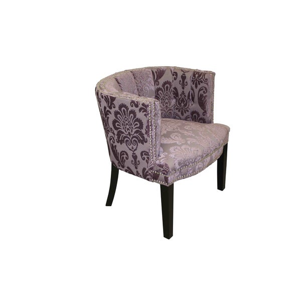 Shop Bohemian Black Plum Fan Damask Arm Chair Overstock