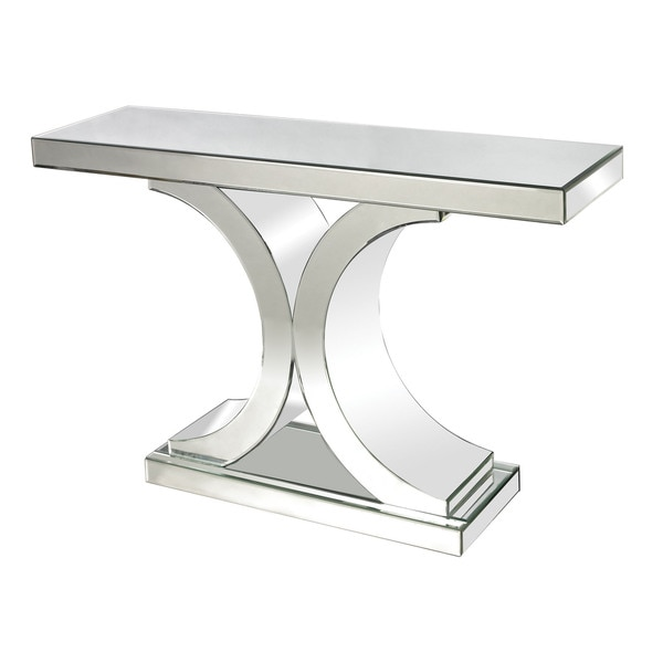 Ls dimond home mirrored console table free shipping today 17447526 - Mirrored console table overstock ...