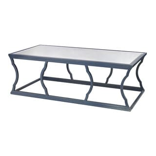 LS Dimond Home Blue Metal Cloud Coffee Table