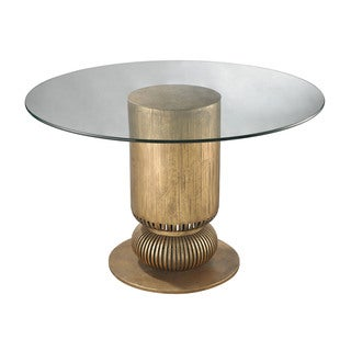 LS Dimond Home Gold Leaf Sock Bun Entry Table