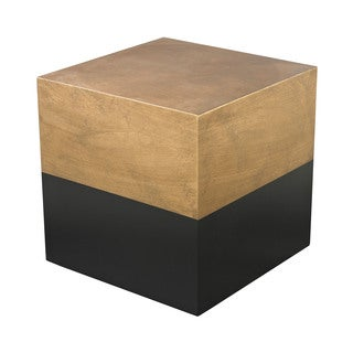 LS Dimond Home Black and Gold Draper Cube Table