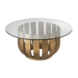 LS Dimond Home Gold Leaf Olympia Coffee Table