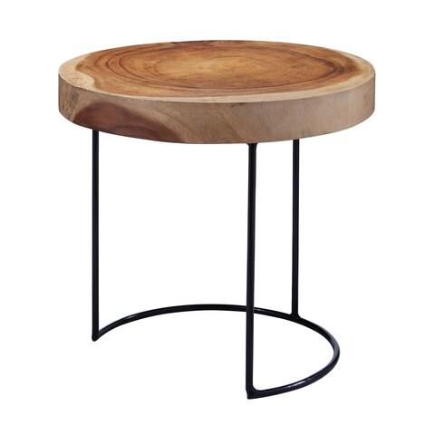 LS Dimond Home Suar Wood Slab Table