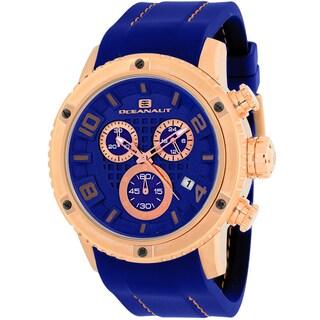 Oceanaut Men's OC3126R Impulse Sport Round Blue Silicone Strap Watch