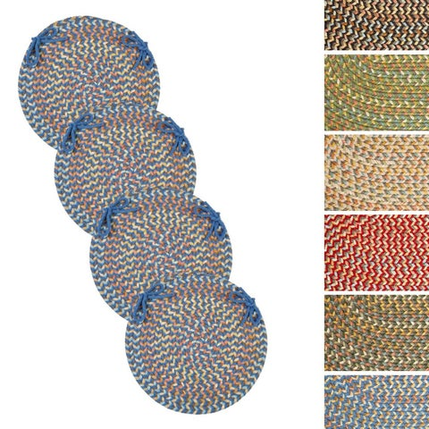 Cozy Cove Reversible Braided Chair Pads by Rhody Rug (Set of 4)