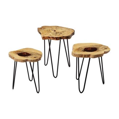 LS Dimond Home Teak Nesting Tables