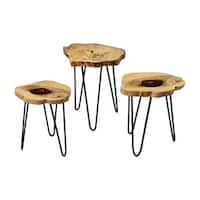 LS Dimond Home Teak Nesting Tables