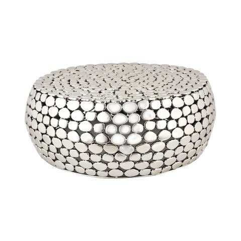 LS Dimond Home Pebble Accent Table - Silver