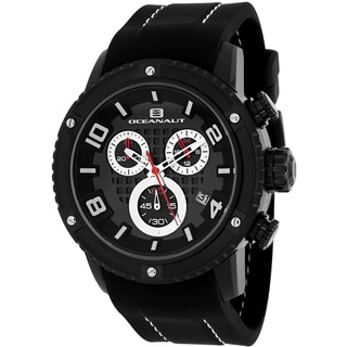 Oceanaut Men's OC3124R Impulse Sport Round Black Silicone Strap Watch