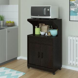 Porch & Den Bloomingdale Microwave Cart with Shelf