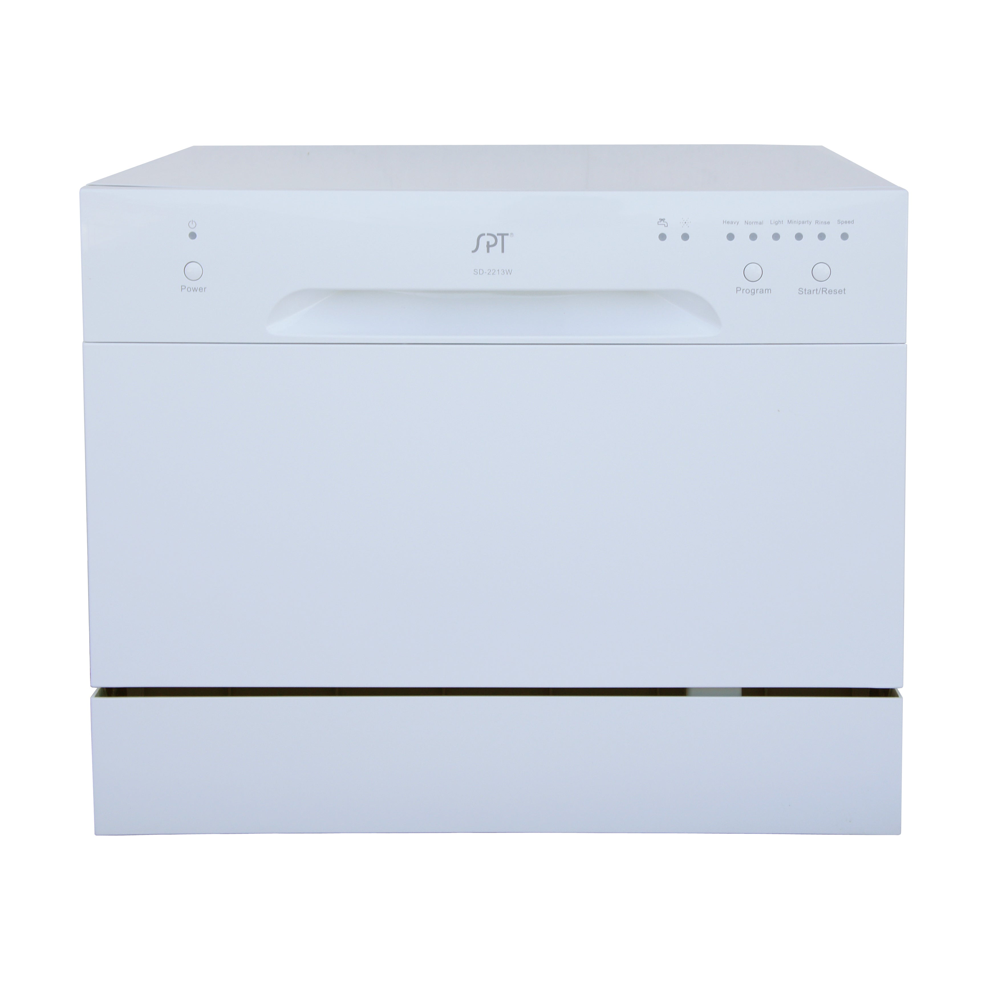 SPT 6 Place Setting White Countertop Dishwasher (6 Place ...