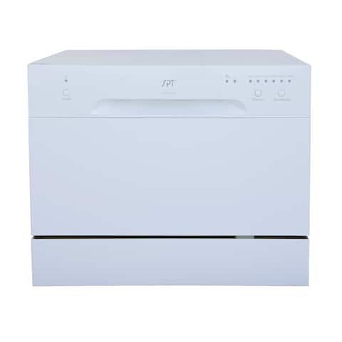 SPT 6 Place Setting White Countertop Dishwasher