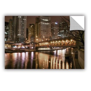 ArtWall Dan Wilson ' Chicago-Michigan Abenue Bridge ' Art Appealz Removable Wall Art