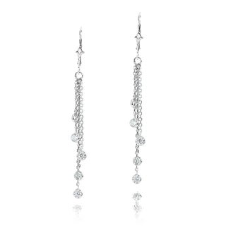 Luxurman 14k Gold 1ct TDW Diamond By The Yard Chandelier Earrings (G-H, SI1-SI2)