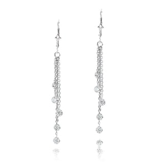 Luxurman 14k Gold 1ct TDW Diamond By The Yard Chandelier Earrings
