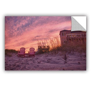 ArtWall Dan Wilson ' Outer Banks-Pink ' Art Appealz Removable Wall Art