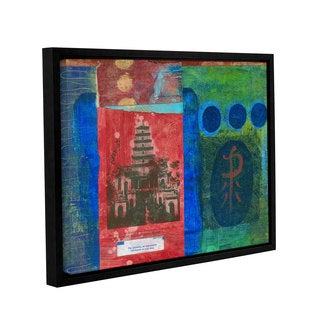 ArtWall Elena Ray 'Good Fortune Pagoda ' Gallery-Wrapped Floater-Framed Canvas