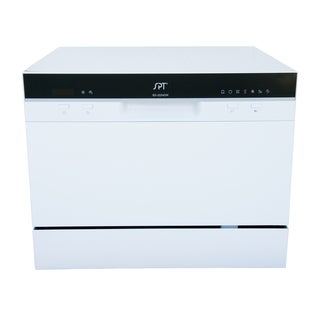 SPT 6 Place Setting White Countertop Dishwasher with Delay Start