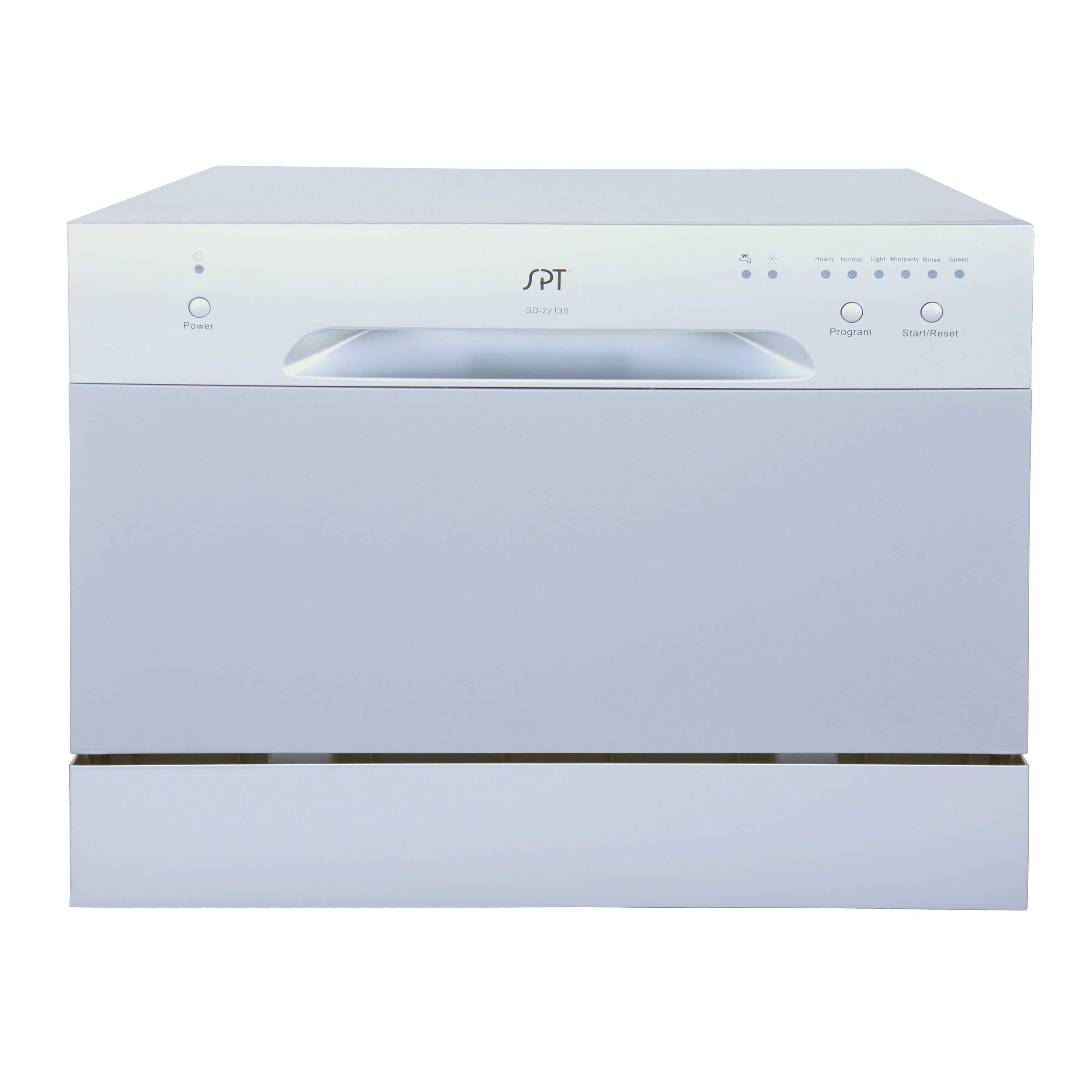 SPT 6 Place Setting Silver Countertop Dishwasher (6 Place...