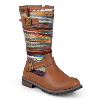 Journee Collection Women's 'Bri' Fashion Multi Fabric Boots