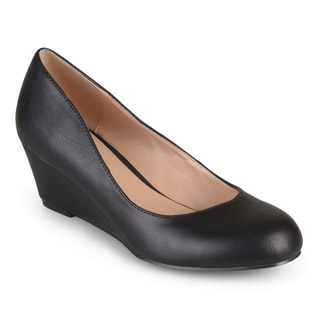 Journee Collection Women's 'Dolup' Classic Round Toe Wedges