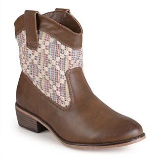 Journee Collection Women's 'Kassi' Multi Fabric Western Boots