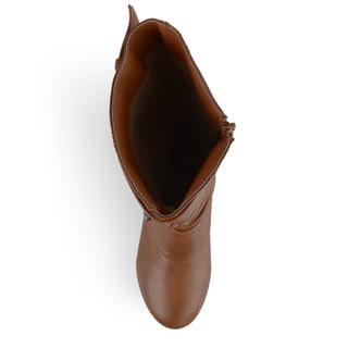 Journee Kid's 'Lassy' Buckle Faux Leather Boots