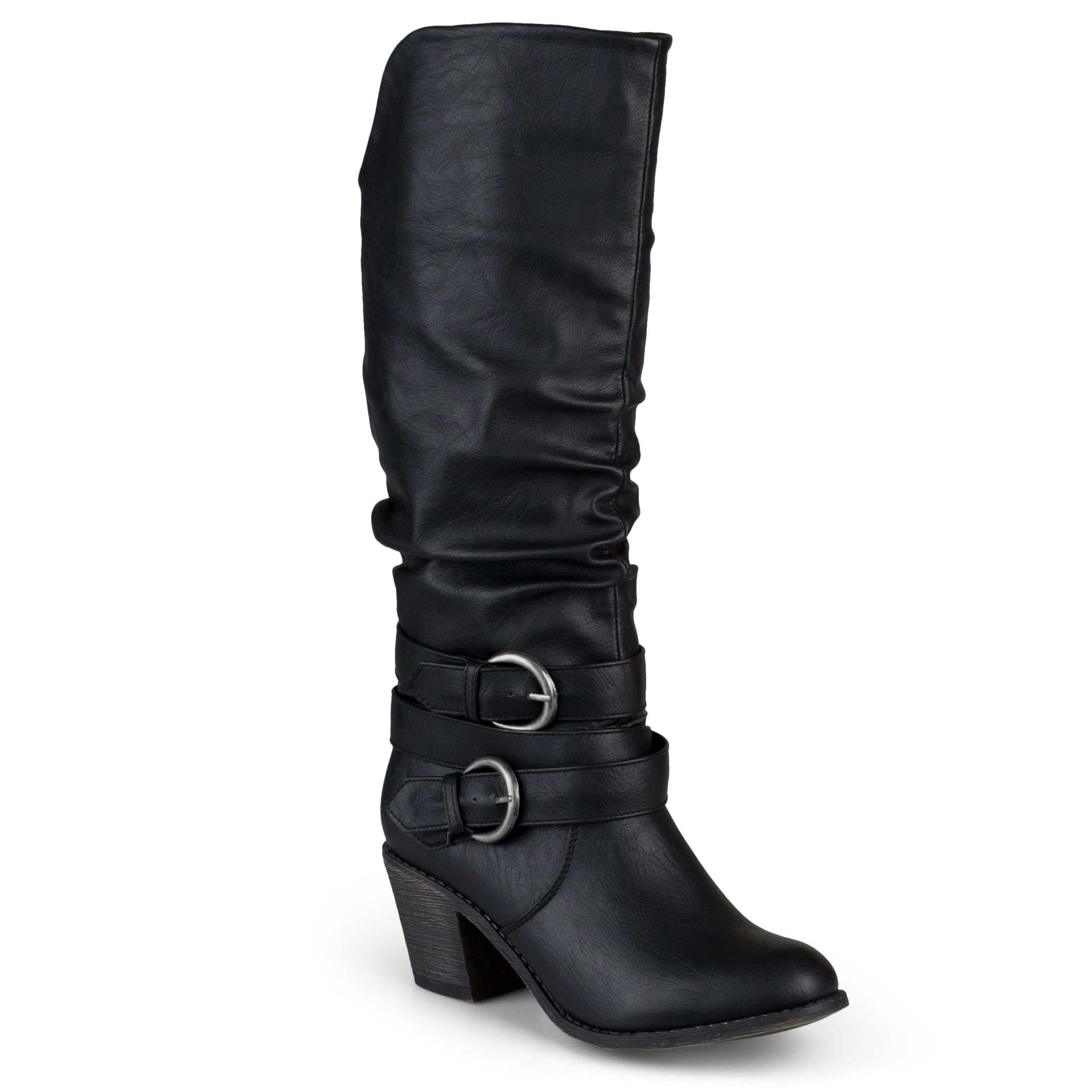 Late' Buckle Slouch High Heel Boots