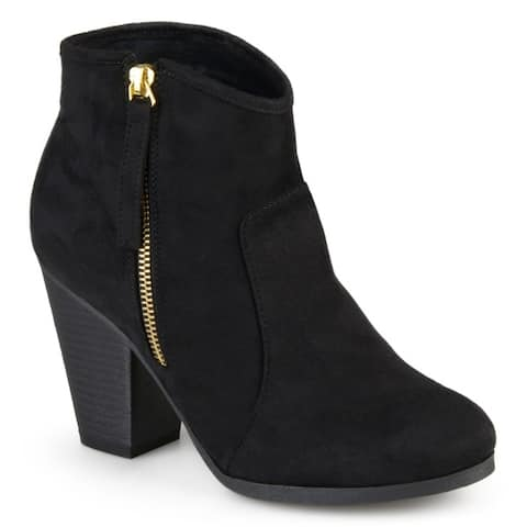 1adfdee047bb0 Journee Collection Women s Link High Heel Faux Suede Ankle Boots