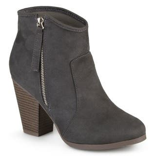 Journee Collection Women's 'Link' High Heel Faux Suede Ankle Booties|https://ak1.ostkcdn.com/images/products/10337952/P17447693.jpg?impolicy=medium