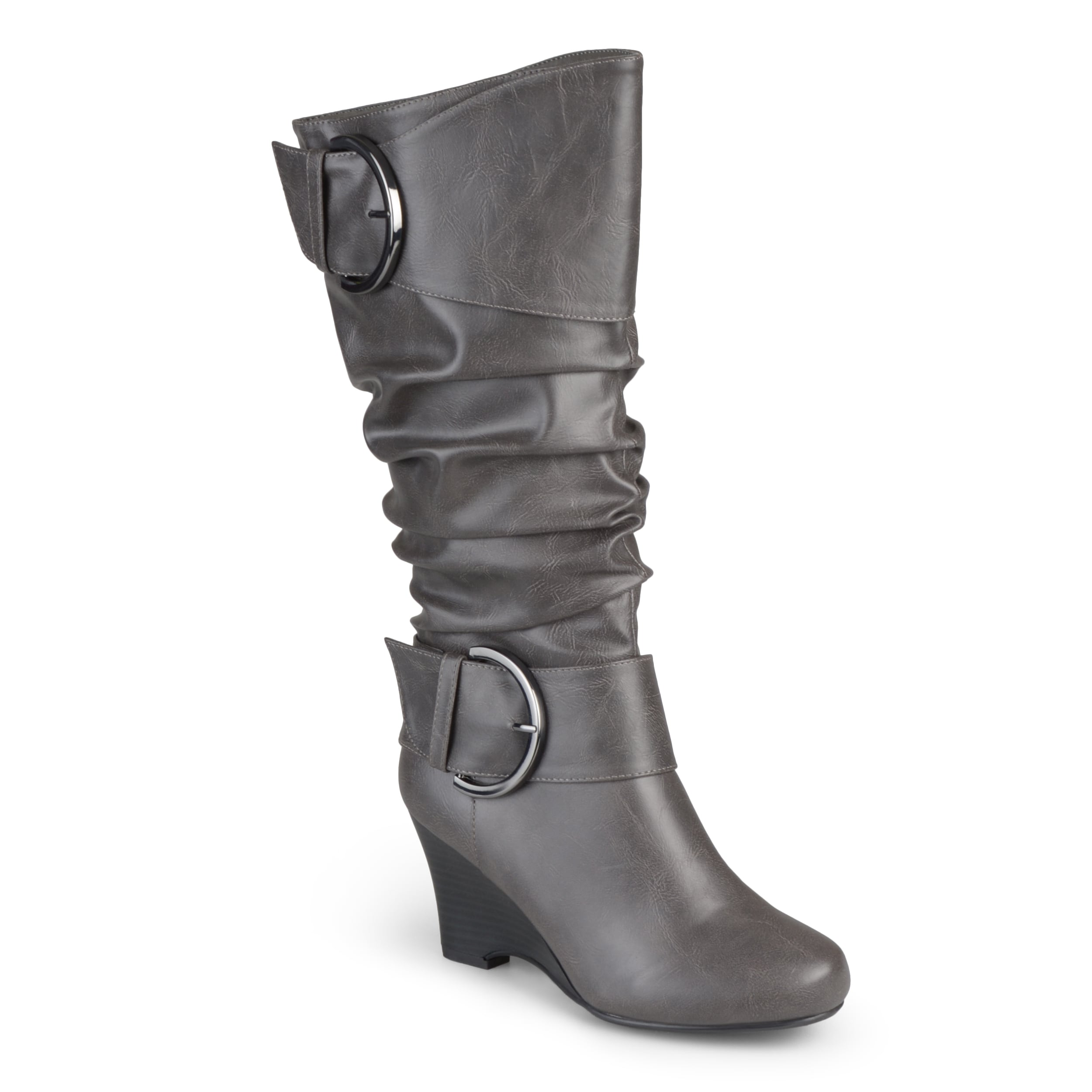 Journee collection Women's 'Meme' Tall Faux Leather Buckl...