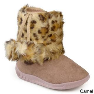 Journee Kid's 'Pom' Pom Pom Faux Fur Boots